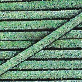 Ruban paillettes irisées 5mm - noir x 1m