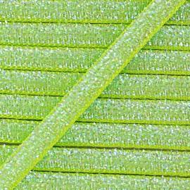 Ruban paillettes irisées 5mm - anis x 1m