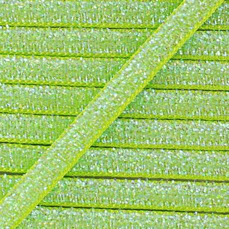 Glittery ribbon 5mm - anise x 1m