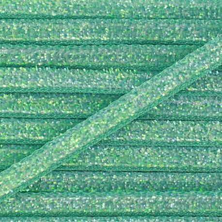 Ruban paillettes irisées 5mm - opaline x 1m