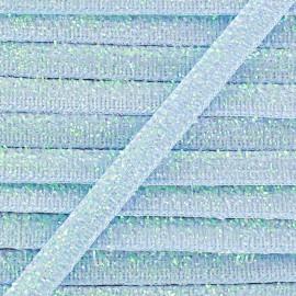 Ruban paillettes irisées 5mm - bleu ciel x 1m