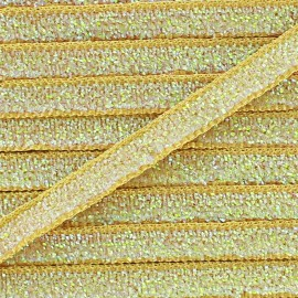 Glittery ribbon 5mm - beige x 1m