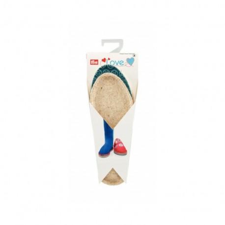 Espadrilles soles PRYM - sizes 26/27 - blue