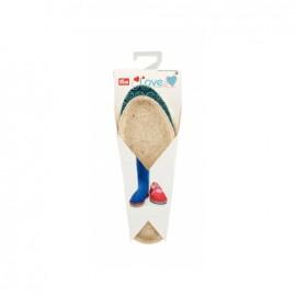 Espadrilles soles PRYM - sizes 34/35 - blue