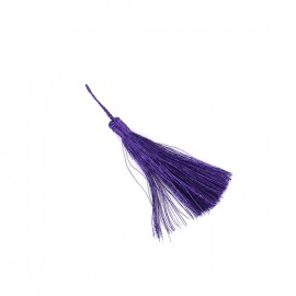 Pompon métallisé India 65 mm - violet