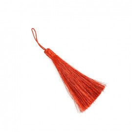 Metallic thread tassel 65 mm - copper