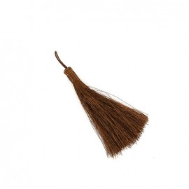 Metallic thread tassel 65 mm - bronze
