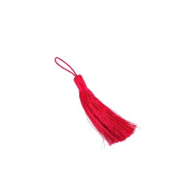 Metallic thread tassel 65 mm - fuchsia