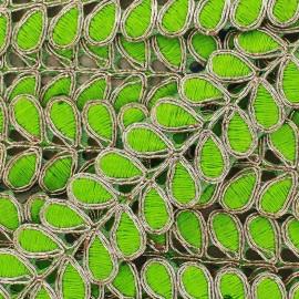 Guipure lace Ribbon India Osadhi - green x 50cm