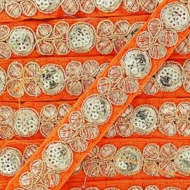 Ruban Galon India Pendjab - orange x 50cm