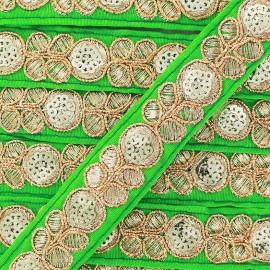 Ruban Galon India Pendjab - vert x 50cm