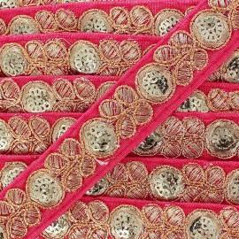 Ruban Galon India Pendjab - rose  x 50cm