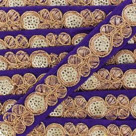 Ruban Galon India Pendjab - violet x 50cm