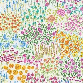 Tissu enduit coton Fleurette - multi x 10cm