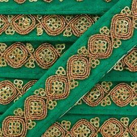 Ruban Galon India Mahal - turquoise x 50cm