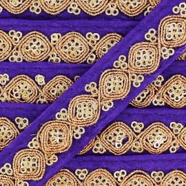 Ruban Galon India Mahal - violet x 50cm