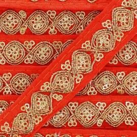Ruban Galon India Mahal - orange x 50cm