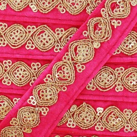 Ruban Galon India Mahal - fuchsia x 50cm