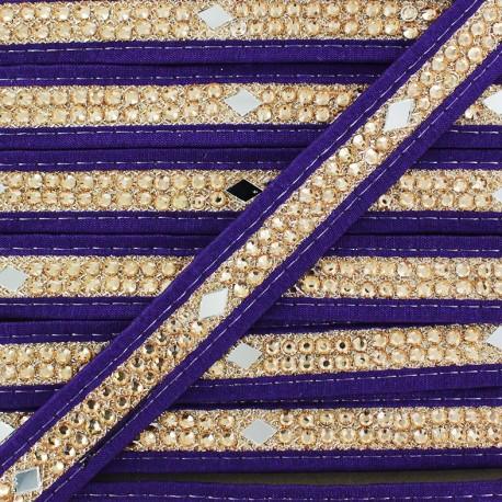Ruban Galon India Diamant - violet x 50cm