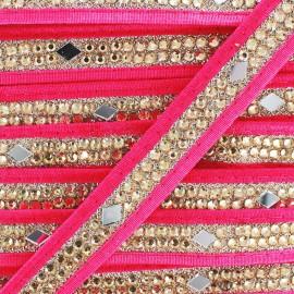 Ruban Galon India Diamant - fuchsia x 50cm