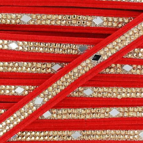 Ruban Galon India Diamant - rouge  x 50cm
