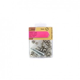 1 pack of 36 Eyelets 5mm and tool - silver