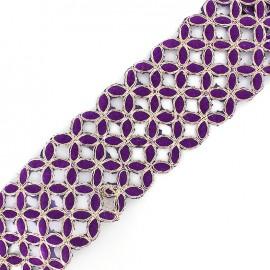 Guipure Ajourée India Amla- violet x 50cm