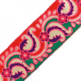 Ruban Galon India New Delhi - rouge/vert x 50cm