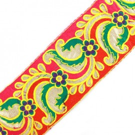 Braid Trimming Ribbon India New Delhi - pink/red x 50cm