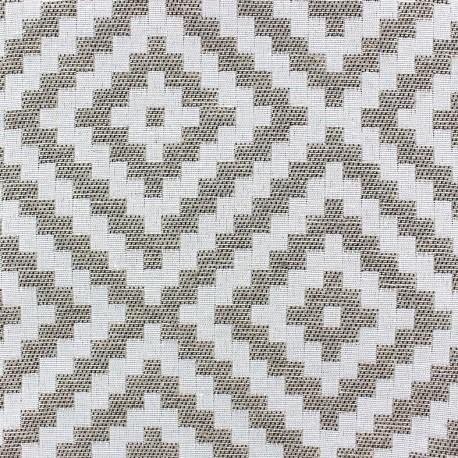 Tissu Vannerie losange  lin x 13cm