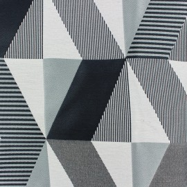 Jacquard fabric Salvador - black/grey x 35cm