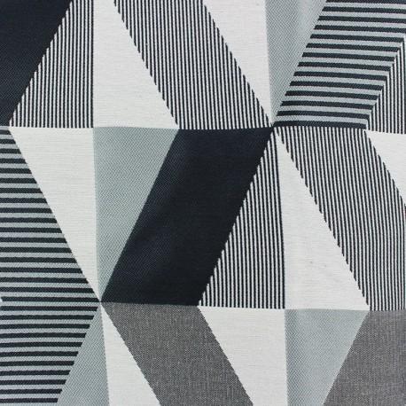 Tissu jacquard Salvador - noir/gris x 35cm