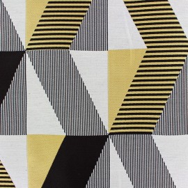 Jacquard fabric Salvador - yellow/black x 35cm