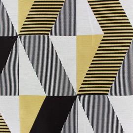 Tissu jacquard Salvador - jaune/noir x 35cm
