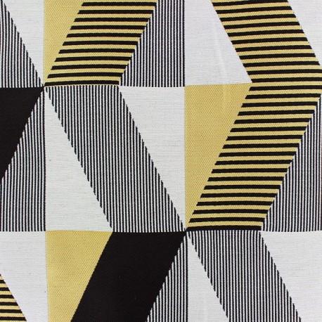 Jacquard fabric Salvador - yellow/black x 35cm