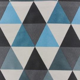 ♥ Coupon tissu 75 cm X 140 cm ♥ Jacquard fabric Géo - blue