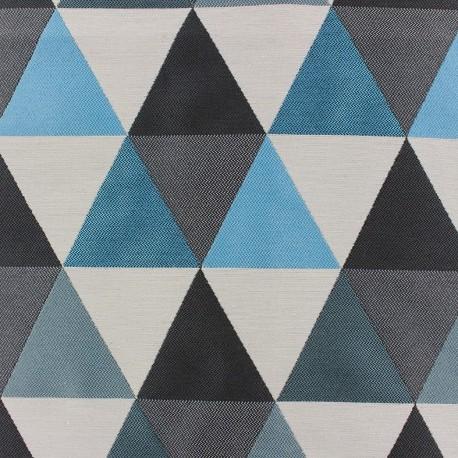Tissu jacquard Géo - bleu x 11cm
