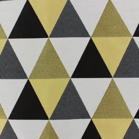 Jacquard fabric Géo - yellow x 11cm