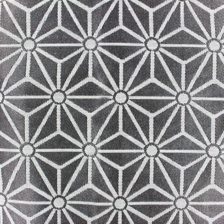 Jacquard fabric Big Saki - silver/beige x 20cm