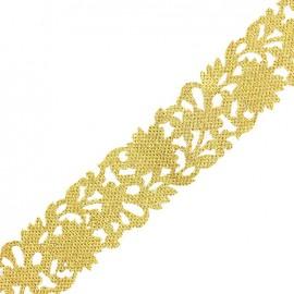 Guipure Ajourée India Mumbai ornement x 50cm - doré