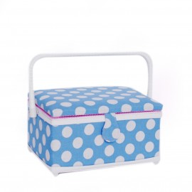 "Rectangle sewing box ""Large Dots lin M"""