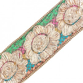 Openwork guipure lace ribbon India Fleur Goa x 20cm