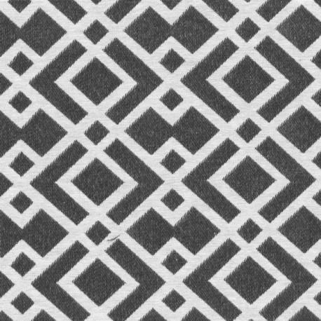 Tissu jacquard Felix - argent/beige x 20cm