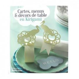 """Livre """"Cartes, menus & décors de table en Kirigami"""""""