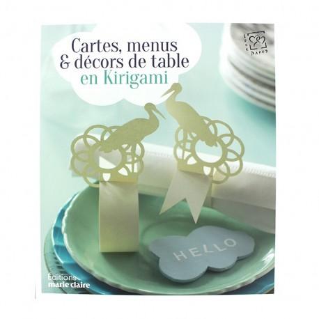 """Book """"Cartes, menus & décors de table en Kirigami"""""""