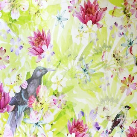 Cotton fabric Paradise Bird - multi x 1m