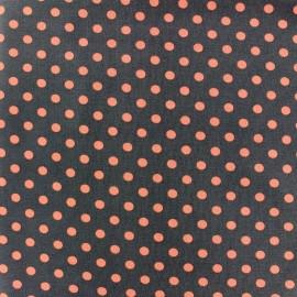 Tissu Jersey pois 7 mm - orange/brun x 10cm
