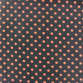 Tissu Jersey pois 7 mm - orange/brun x 10cm