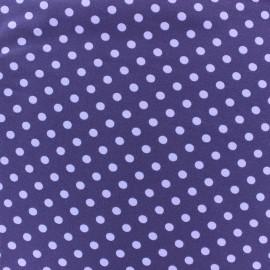 ♥ Coupon 50 cm X 150 cm ♥ Tissu Jersey pois 7 mm - mauve/violet