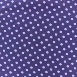 Jersey fabric Dots 7 mm - mauve/purple x 10cm